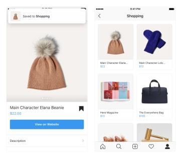 2018年11月15、「欲しい商品を「ショッピングコレクション」に保存できるように」「動画投稿でもショッピング機能の利用が可能に」「ビジネスプロフィールからより簡単にショッピング」の3つを発表した。