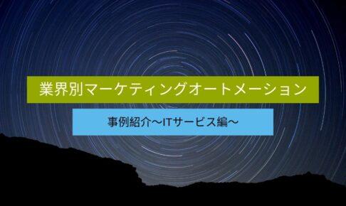 業界別マーケティングオートメーション(MA)事例紹介~ITサービス編~