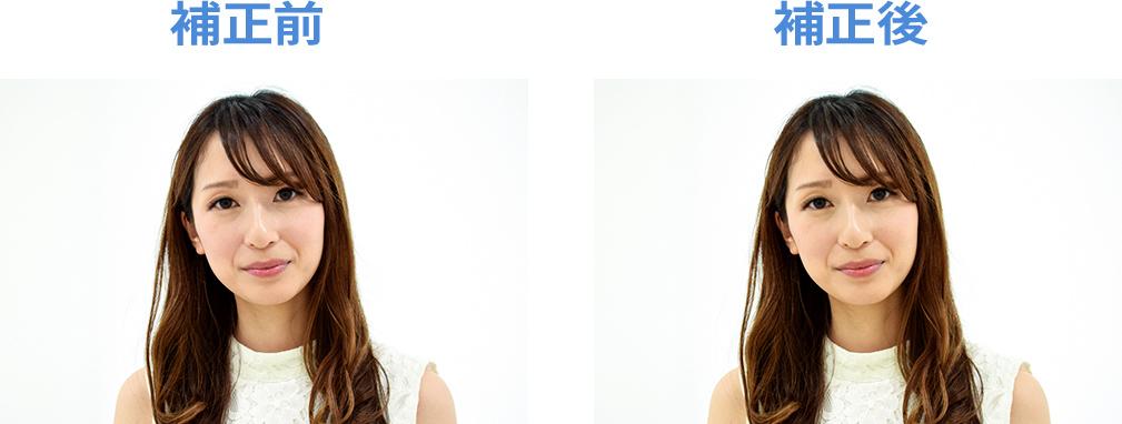 人の写真の補正。黄味を足すことで血色がよく見える
