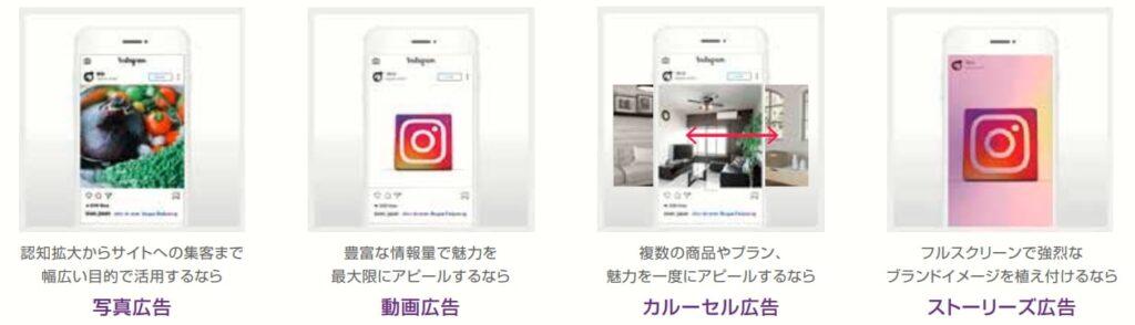 主要な広告手法「Instagram広告」特徴