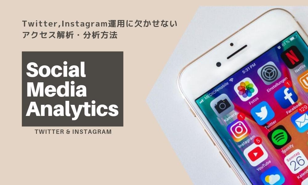 SNSマーケティングは効果的? Twitter,Instagram運用に欠かせないアクセス解析・分析方法