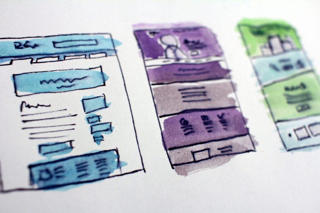 ランディングページのデザインモック