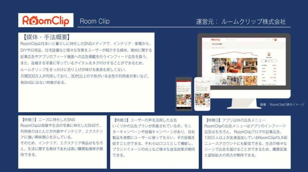 広告手法:RoomClip広告