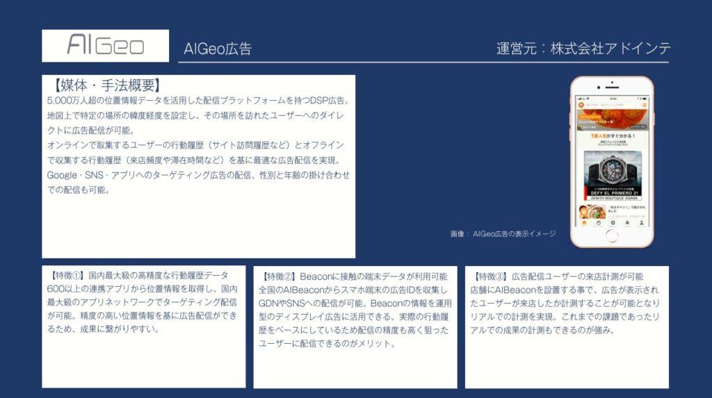 広告手法:AIGeo(アドインテ)