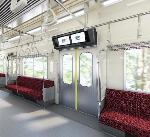鉄道車両用サイネージとして世界初、 AGCのinfoverre(R)を埼玉高速鉄道に導入