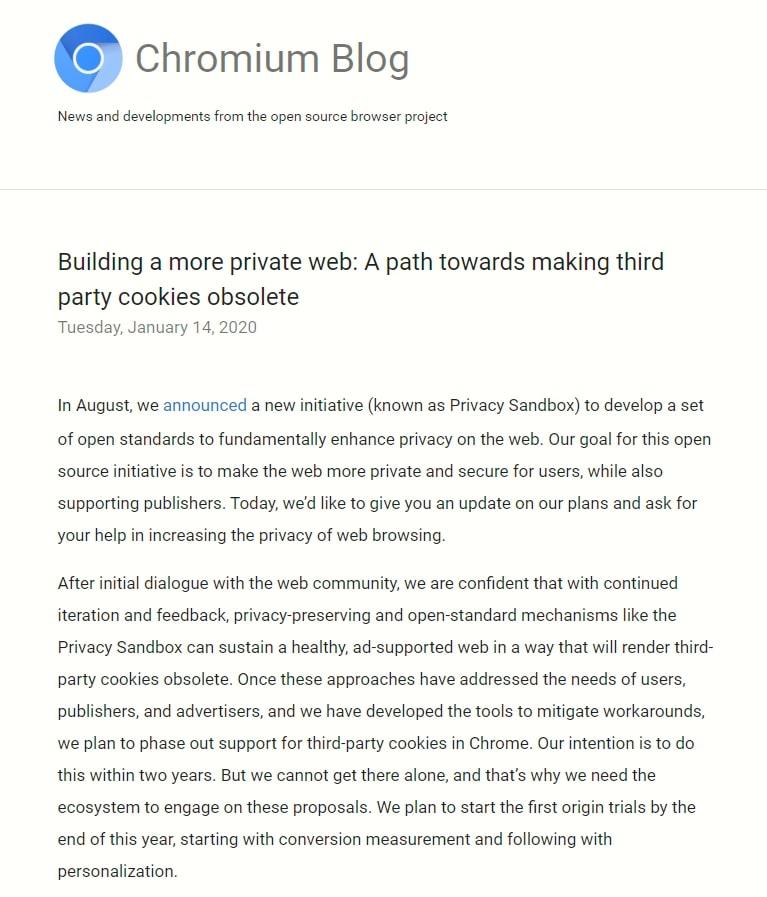 Googlechromeブログ_プライベートなWeb環境の構築:サードパーティのCookieを廃止するための道