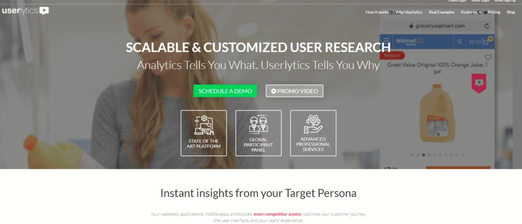 SEO対策ツール:Userlytics