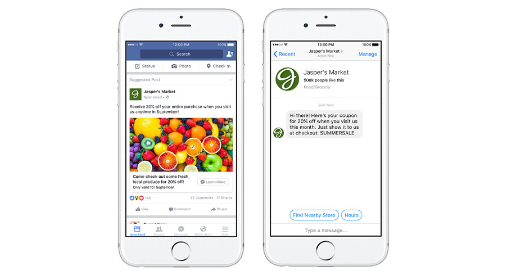 facebook広告のフォーマット:Messenger誘導広告