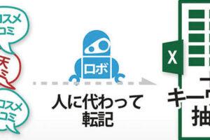 口コミ収集&その口コミからキーワード抽出をロボットが代行! 「楽天、@コスメの商品レビュー取得」RPAアプリ