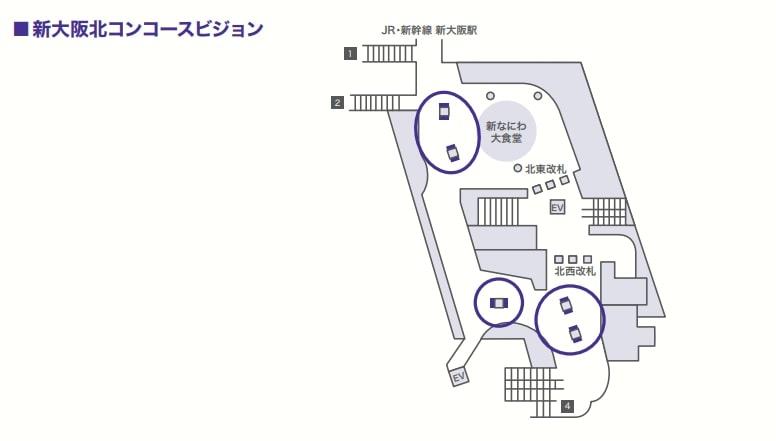 北東改札、北西改札はJRへの乗り換えで利用されるため、JR、新幹線利用者にリーチすることができる