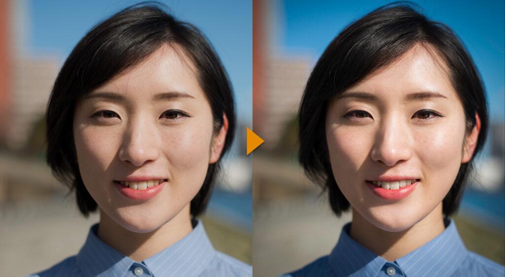 人物写真のレタッチ方法